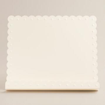 Ivory Scalloped Cookbook Holder
