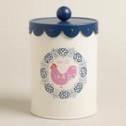 Medium Rooster Cookie Tin