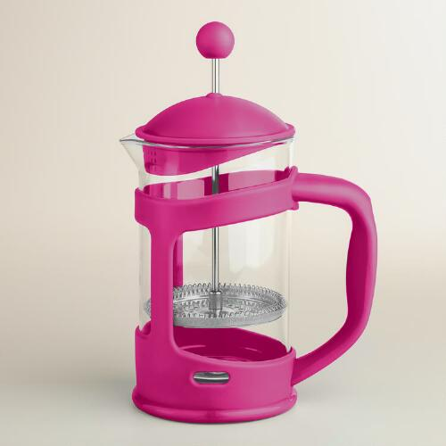 Pink 3-Cup French Press