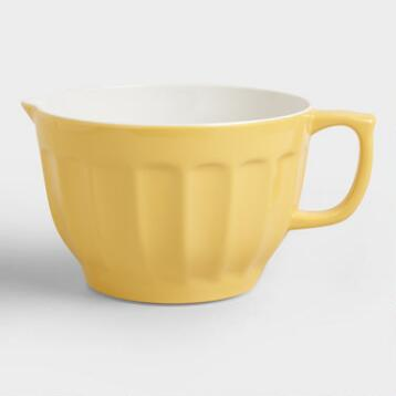 Yellow Melamine Batter Bowl