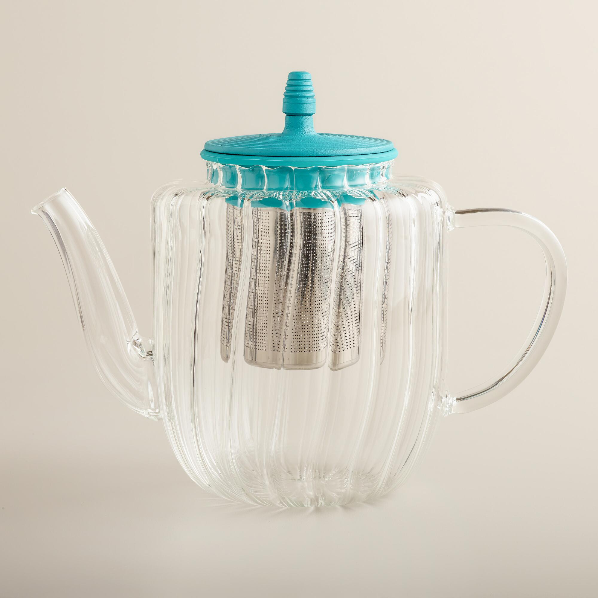 Glass Tea Kettle Stove Top Aqua Glass Stovetop Tea Kettle