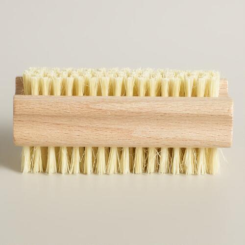 Double-Sided Natural Fiber Hand Brush