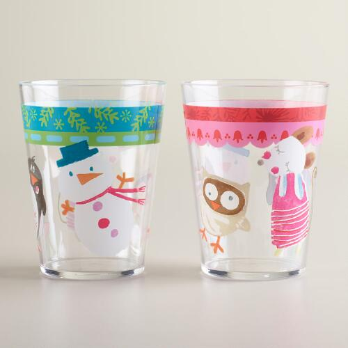 Sweet Holidays Acrylic Tumblers, Set of 2