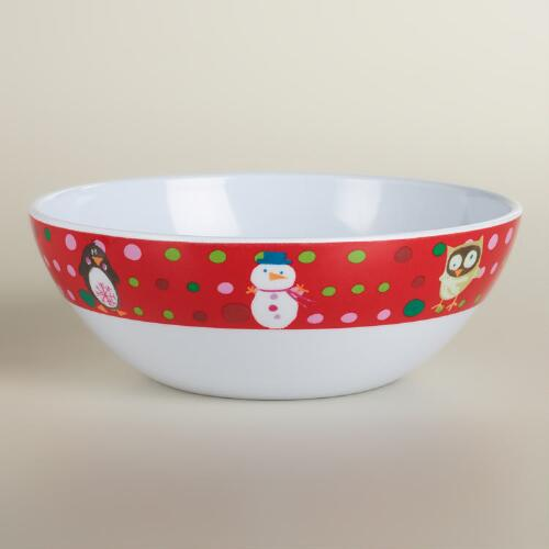 Sweet Holidays Melamine Bowls, Set of 2