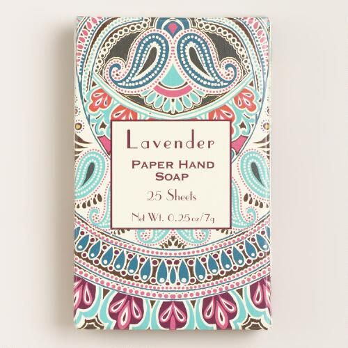 Lavender Paper Soap, 25-Sheets