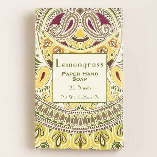 Lemongrass Paper Soap, 25-Sheets