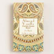 Almond Vanilla Paper Soap, Set of 4