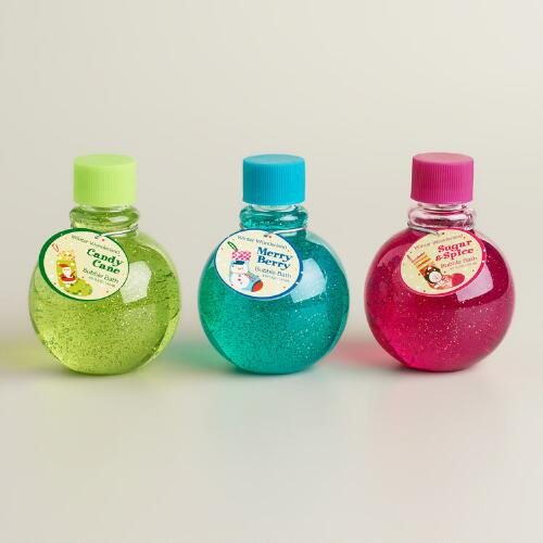 Holiday Glitter Bubble Bath, Set of 3