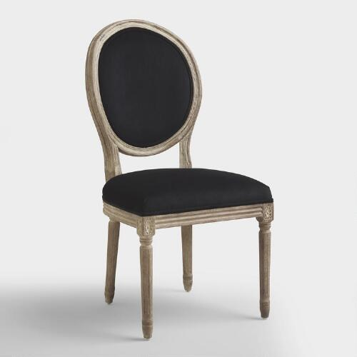 Black Round Back Paige Dining Chairs, Set of 2