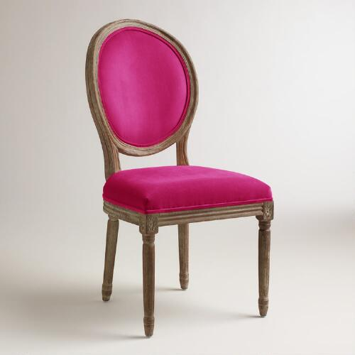 Fuchsia Paige Round Back Dining Chairs, Set of 2
