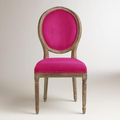 Fuchsia Paige Round Back Dining Chairs, Set of 2 | World ...