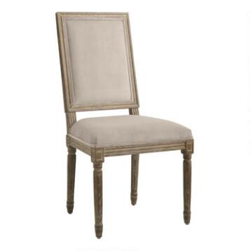 Cocoa Square-Back Paige Dining Chairs, Set of 2