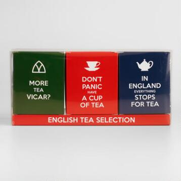 English Slogans Tea Selection, 3-Pack