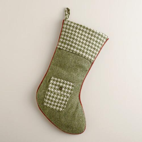 Green Edinburgh Wool Stocking