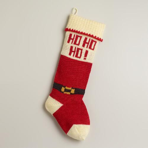 Santa Knit Stocking