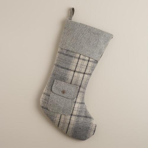 Gray Edinburgh Wool Stocking