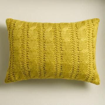 Oasis Hand-Knit Lumbar Pillow