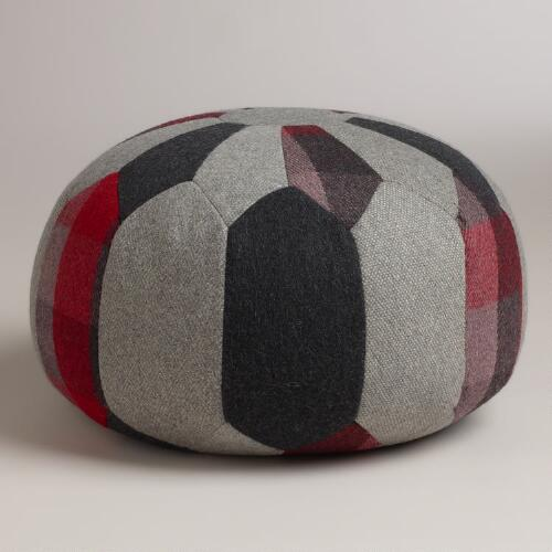 Round Patchwork Pouf World Market