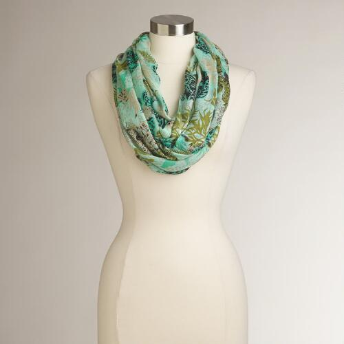 Mint Nature Infinity Scarf