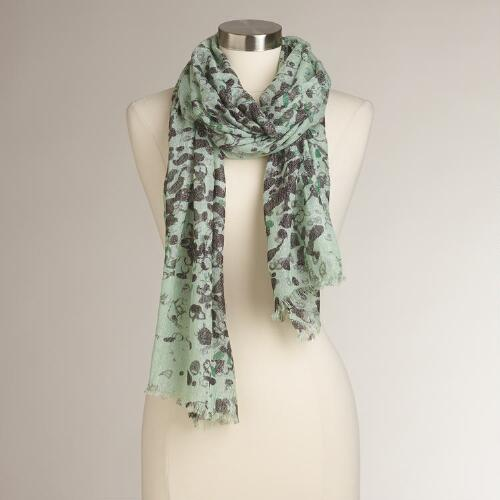 Mint Lurex Scarf