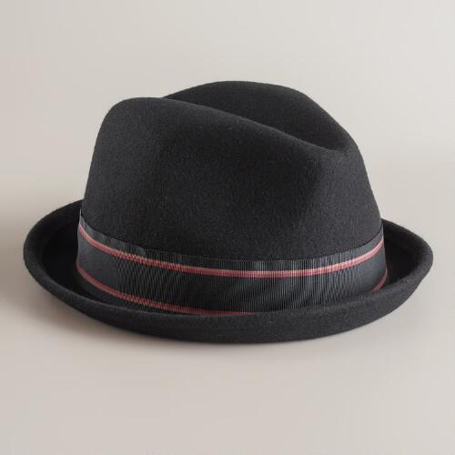 Ribbon Wool Fedora Hat
