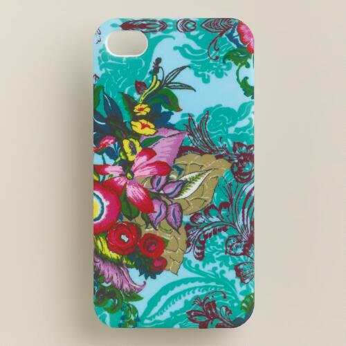 Blue Floral iPhone 4 Case