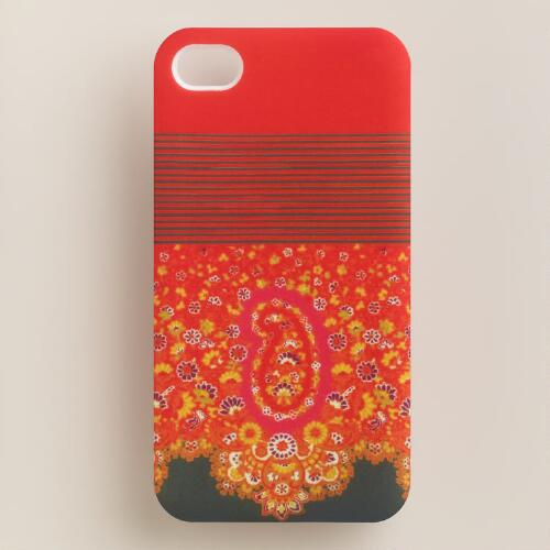 Red Paisley iPhone 4 Case