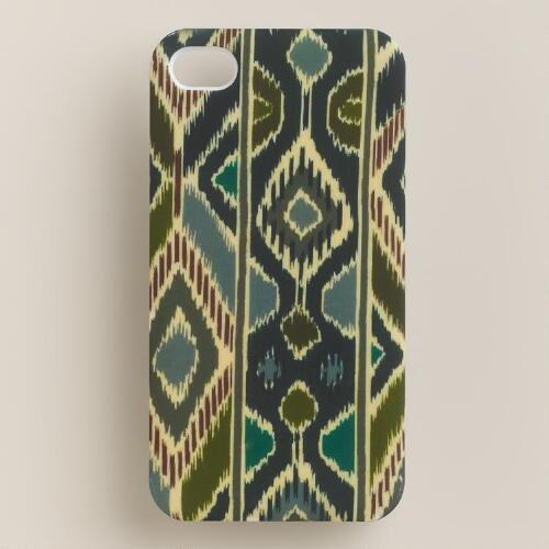 Blue Ikat iPhone 4 Case