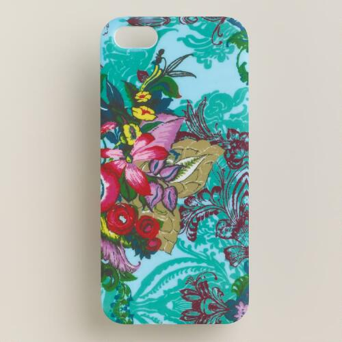 Blue Floral iPhone 5 Cover