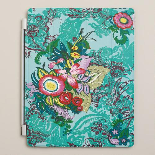Blue Floral iPad Cover