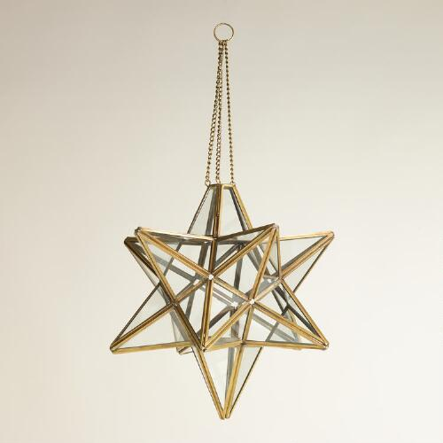 Clear Star Hanging Lantern