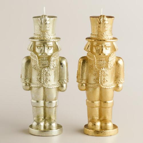 Nutcracker Candles, Set of 2