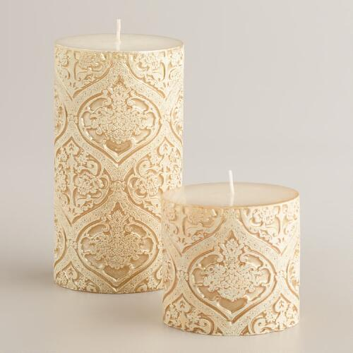 Carved Baroque Pillar Candles