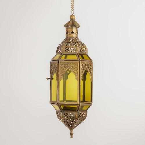 Small Green Latika Hanging Lantern