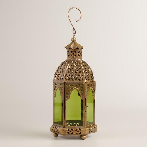 Small Green Latika Tabletop Lantern