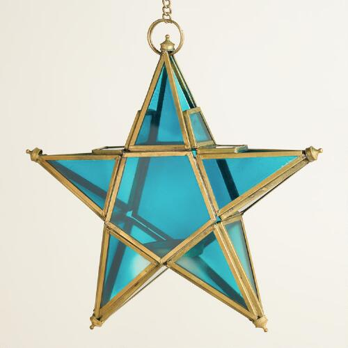 Small Blue Star Lantern