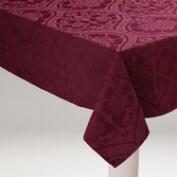 Fig Damask Ogee Tablecloth