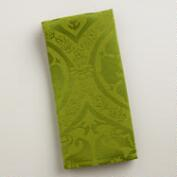 Green Damask Ogee Napkins, Set of 4
