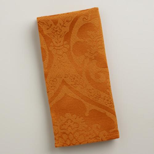 Spice Damask Ogee Napkins, Set of 4