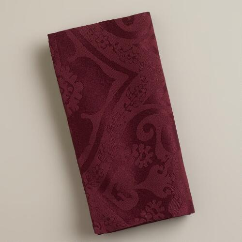 Fig Damask Ogee Napkins, Set of 4