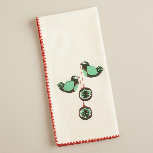 Retro Birds Napkins, Set of 4