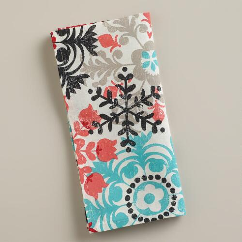 Scandi Snowflakes Napkins, Set of 4