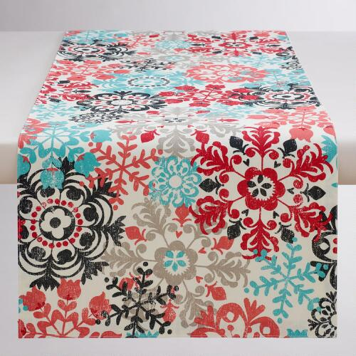 Scandi Snowflakes Table Runner