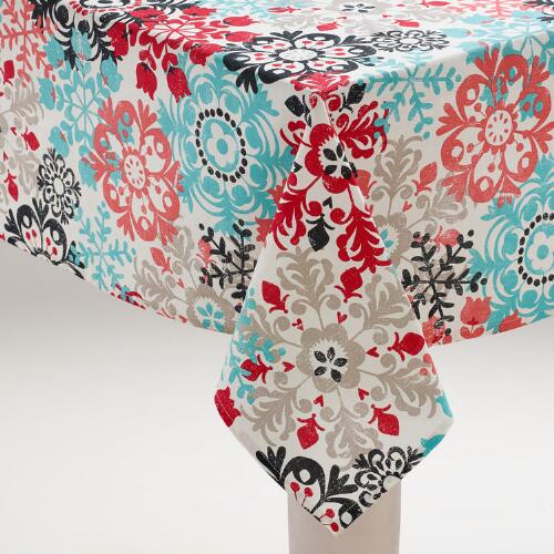 Scandi Snowflakes Tablecloth