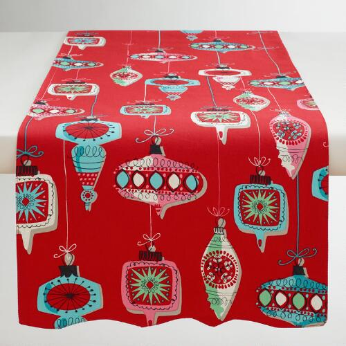 Vintage Ornaments Table Runner
