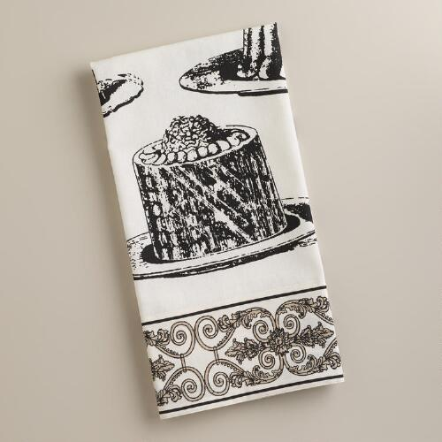 Black and White Pudding Kitchen Towel
