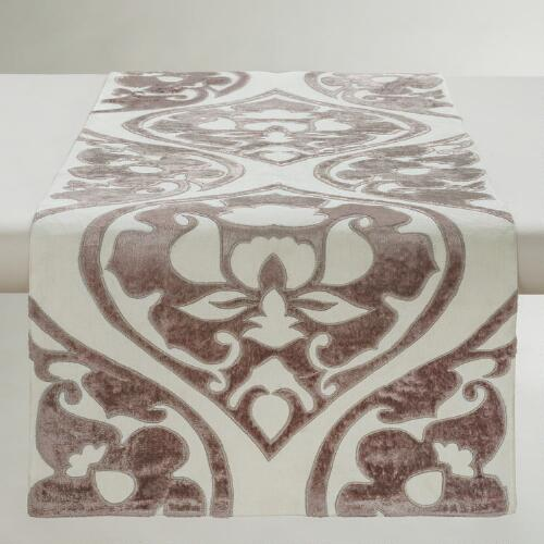 Velour Baroque Ogee Table Runner