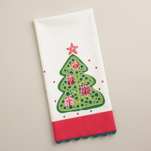 Holiday Christmas Tree Kitchen Towel