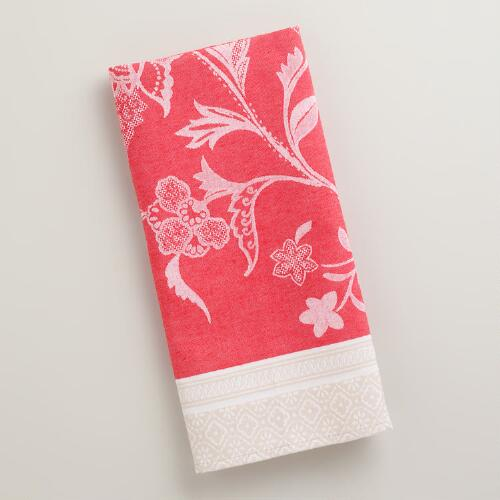 Floral Jacquard Dorthea Kitchen Towel