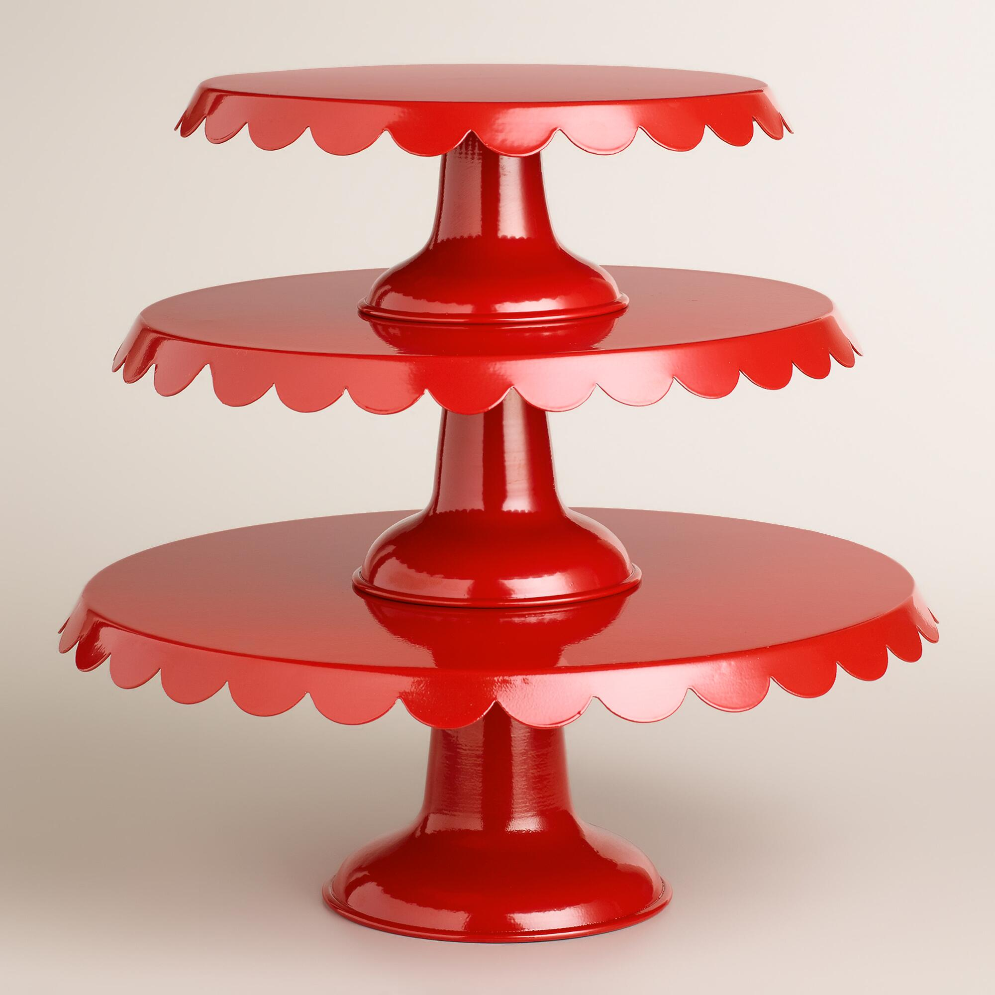 Red Amelie Cake Stands